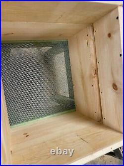 FULL Beginners Kit National Bee Hive Gabled Roof You Just need Bees