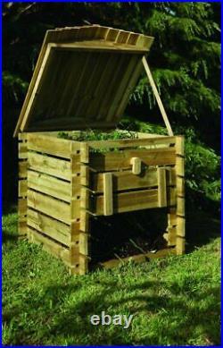 Forest Beehive Pressure Treated Wooden Garden Compost Bin (0.74 x 0.74m)