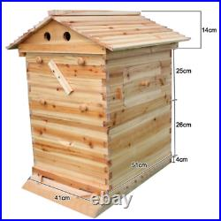 Free Flowing Honey Hive Beehive Frames+Beekeeping Brood Cedarwood 7 PCS Box Set
