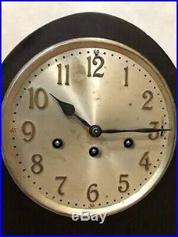 German Junghans Beehive Tombstone Westminster Chime Mantel Bracket Table Clock