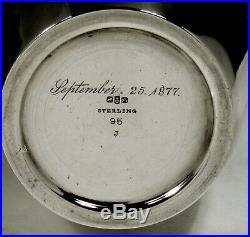 Gorham Sterling Tea Caddy 1877 BEE HIVE