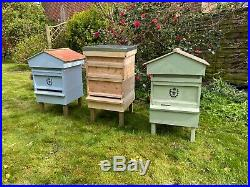 Hand Made Fully Built British National Bee Hive with Gabled Roof POSTED