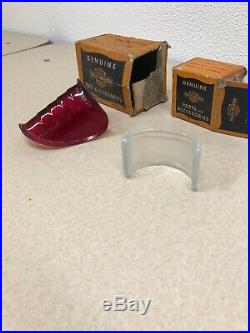 Harley Davidson Knucklehead Beehive Tail Light Glass Lens NOS! Taillight