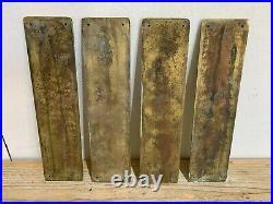 Job Lot Vintage/Antique 13 x Brass Door Finger Plates & Beehive Knob