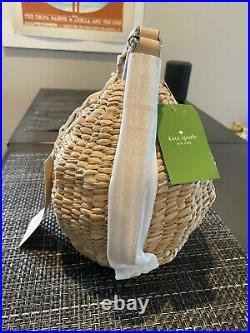 Kate Spade Down the Rabbit Hole Straw BEEHIVE OH HONEY Clutch Wristlet NEW NWT