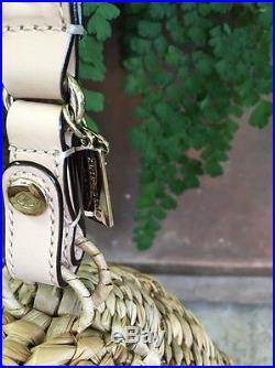 Kate Spade New York Beehive & Bee Oh Honey Straw Wristlet Bag, MINT
