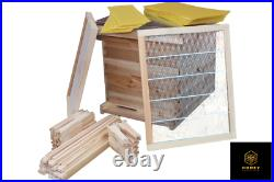 Langstroth Bee Hive Bee Keeping 1 Brood 1 Super with Frames, Wax and Starter Kit