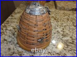 Longaberger Rare Bee Hive Collectors Club Basket With 3 Bee Pins