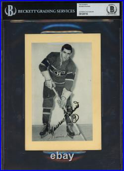 Maurice Richard Autographed 1944-63 Beehive Group 2 5.5x8 Photo Beckett 12487150