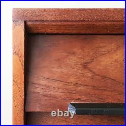 Mid Century Maple & Co Teak & Ebonised Bee Hive Chest of Drawers 60s 70s