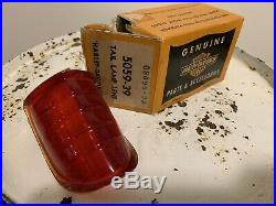 NOS Harley Davidson 1939 Bee Hive Knucklehead WL UL Tail Lamp Lens WithBox 5059-39