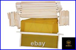 National Bee Hive Bee Keeping 1 Brood 2 Supers with Frames, Wax and Starter Kit
