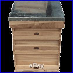 National Bee Hive Floor, 1 Brood, 2 Supers, Crown Board, Roof Empty
