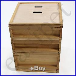 National Bee Hive Gabled Roof Cedar New 2 Super 1 Brood Beekeeping Beehive 266
