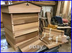 National Bee Hive, Joiner made with quality in mind. Red Cedar, with frames