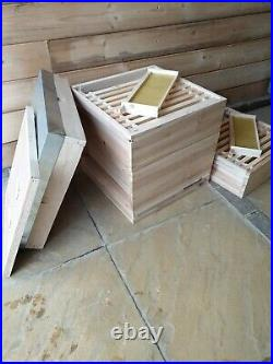 National Bee Hive Kit, 1 x Brood, 2 x Supers including Frames and Wax Sheets