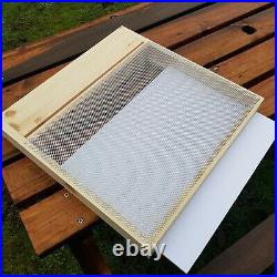 National Bee Hive with Gabled Roof assembled with anti wasp floor