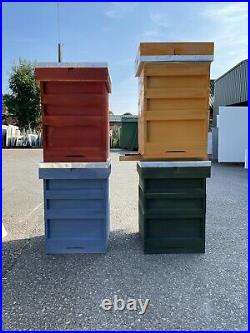 National Beehive Assembled & Painted Frames & Wax