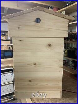 National Beehive, Pine, Roof, 1 Brood, 2 Supers, Crown Board, Mesh Floor