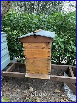 National Cedar Bee Hive Beehive, 14x12 Gabled roof. Tung oiled