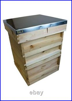 National Cedar Bee Hive Beehive, Complete, British Made, ASSEMBLED, Free P&P