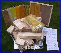 National Cedar Beehive, Complete, British Made, FLAT PACKED, PLUS ACCESSORIES