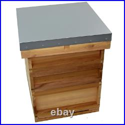 National cedar Bee Hive (flat roof)