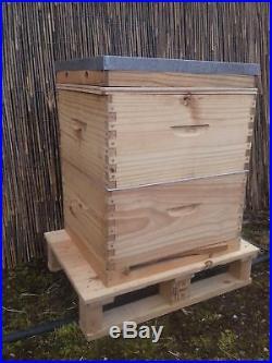 New Langstroth 10 frame Bee Hive deal 1 deep Super 1 Brood (Royalboroughhoney)