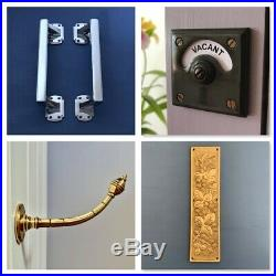 Nickel Silver Beehive Door Pull Handles Grab Knobs Plates Push Large Antique