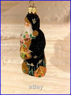 PATRICIA BREEN Beeskep Santa with Bee Honey Bee Hive Neiman Marcus 2003