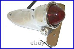 Polished 1936 CROCKER style TAIL LIGHT for Harley Bobber Motorcycle BEEHIVE LENS