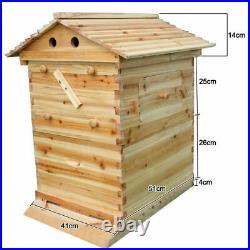 Professional Beekeeping Auto Honey Beehive House Cedarwood Super Brood Box UK