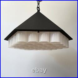 RARE George Nelson & Associates Beehive Lamp By Lucia DeRespinis Pendant MCM Mod