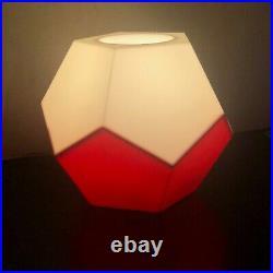RARE Mid Century Modern Lamp C N BURMAN PLASTIC MOD DODECAHEDRON ABS Joe Colombo