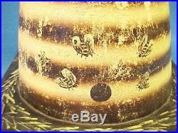 Rare Antique Odd Fellows Rebekah Hand Painted Beehive Fraternal Prop Circa 1910