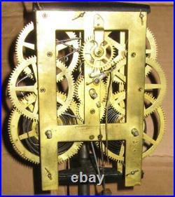Rare J. C. Brown Forestville Clock Manufactory Ripple Cut Beehive Clock Working