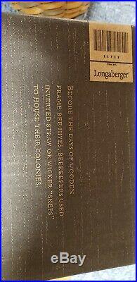 Rare Longaberger CC BEEHIVE BASKET & Base 2010 free shipping