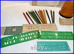 Rare set 14 vintage BAKELITE Calligraphy Stenography tools with Beehive Pen Holder