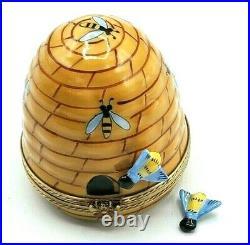 Rochard Beehive with Bee Limoges Box (Retired)