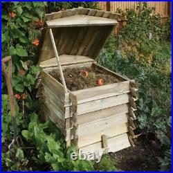 Rowlinson Beehive Wooden Garden Composter Compost Bin Natural Timber