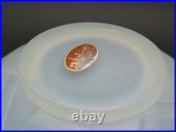 SABINO Glass Opalescent Les Abeilles Beehive Vase Signed/Label c1930 Lalique Era
