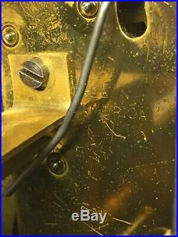 Seth Thomas Sonora #14 5 Bell Chime Clock Beehive Case Runs Not Striking/Chiming