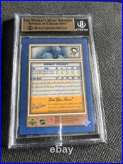 Sidney Crosby 2005-06 Beehive Blue Rookie Hockey Card BGS 9.5 W10 RC gem mint