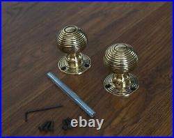 Solid Brass Door Knobs Set Of 8 Pairs Beehive Style