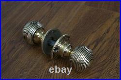 Solid Brass Door Knobs Set Of 9 Pairs Beehive Style