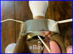 Super Clean Mid Century Vintage Aqua Turquoise Beehive Lamps Excellent Coloring