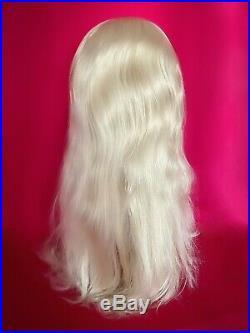 Swinging 60s BIG BEEHIVE Wig Bangs Custom Drag Queen Platinum Blonde ALL COLORS