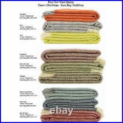 TWEEDMILL KNEE RUG 100% Wool Sofa Throw Blanket British BEEHIVE OATMEAL BEIGE