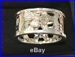 Theo Fennell Alias collection sterling silver beehive ring. Very unusual & rare