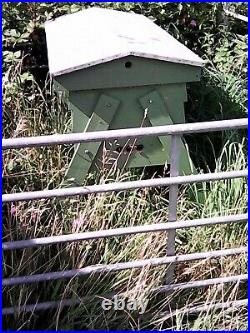 Top Bar beehive with working colony of bees